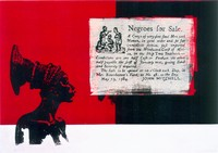 Negroes for Sale, 1997/99, Siebdruck auf Leinwand, 145x100cm